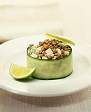 Lentil,apple and zucchini Timbale