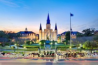 St Louis Cathedral, Jackson Square, New Orleans, Louisiana
