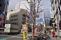 Kobe (Japan): street in the city center, by Sannomiya station