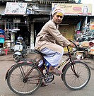 Cycling to the market in Lucknow, India