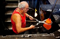 Manufacturing Baccarat glassware , one of the finest in the world  Baccarat, France