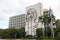 Monument dedicated to Ernesto Che Guevara on the Plaza de la Revolucion in Havana, Cuba