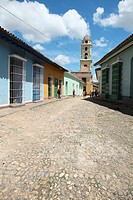 Vertical view of the historic city of Trinidad, Cuba