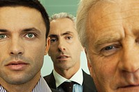 Male executives, close_up