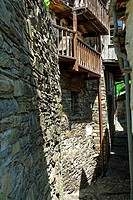 traditional granite stone dwelling house - village of indemini - canton of ticino - switzerland