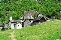 traditional stone houses - settlement of sabbione - bavona valley - canton of ticino - switzerland