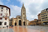 San Salvador, Cathedral, Kathedrale, Plaza Alfonso II, Oviedo, Asturias, Asturien, Spanien, spain