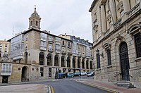 Los Arquillos, historic houses, Laubenhaeuser, Vitoria Gasteiz, Pais Vasco, Basque Country, Baskenland, Spanien, spain