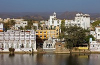 Waterfront of Pichola lake,Udaipur, Rajasthan, india