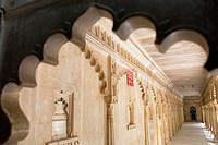 Correidor of Courtyard ,City Palace,Udaipur, Rajasthan, india
