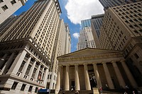 Federal Hall National Memorial, Statue of George Washington, Wall Street, Financial District, Lower Manhattan, Downtown, Manhattan, New York City, New...