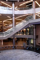 Atrium of modern building