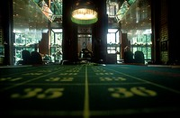 Roulette Table _ Gambling Casino _ Wiesbaden _ Hesse _ Germany