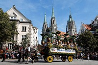 Germany, Bavaria, Munich, People celebrating oktoberfest