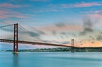 25th of April Bridge, Lisbon, Portugal, Europe