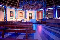 Interior of Liverpool Roman Catholic Cathedral of Christ the King
