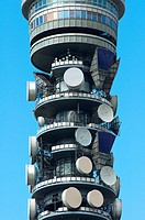 BT Tower detail, London, UK