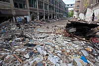Detroit, Michigan - The abandoned Packard plant  Opened in 1903, the 3 5 million square foot plant employed 40,000 workers before closing in 1958  It ...