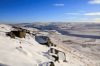 Winter on Buckstones, Marsden Moor, Huddersfield, West Yorkshire, England, UK
