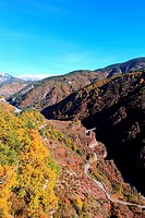 The picturesque gorges of Daluis canyon, Alpes-Maritimes, Provence-Alpes-Côte d´Azur, France