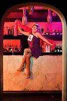 Young woman on hen night (thumbnail)
