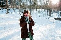 Girl in snow, portrait