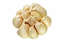 Garlic isolated on white background, DFF image, Adobe RGB