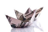 paper boats from dollars