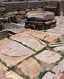 Tunisia - Kasserine Governatorate - Surroundings of Sbeitla. Roman ancient city of Sufetula,archaeological site. Ruins of an olive mill and olive pres...