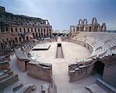 Tunisia - Mahdia Governorate - El Djem (El-Jemm) - Roman Amphitheatre (UNESCO World Heritage List, 1979), 230 A.D.