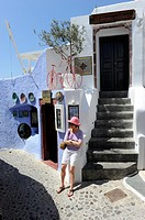 Shopping Oia Santorini Greece Island Mediterranean Cruise Aegean