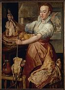 Joachim Beuckelaer (1530-ca. 1575), The Cook.  Vienna, Kunsthistorisches Museum (Museum Of Fine Arts)