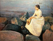 Edvard Munch (1863-1944), Inger on the Beach, 1889.  Bergen, Rasmus Meyer Samlinger (Fine Arts Collection)