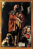 Tanzio da Varallo (Antonio d'Enrico, ca. 1575/80 - ca. 1632/33), Saint Roch.  Varallo, Pinacoteca Palazzo Dei Musei (Picture Gallery)