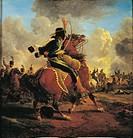 Jacques Francois Joseph Swebach (1769-1823), Charging French Hussar.  Lyon, Musée Des Beaux-Arts (Picture Gallery)
