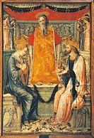 Bonifacio Bembo (1420-1480), The Coronation of the Virgin and Christ.  Cremona, Museo Civico Ala Ponzone (Art Museum)