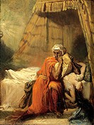 Théodore Chassériau (1819-1856), Othello and Desdemona.  Metz, La Cour D'Or, Musée D'Art Et D'Histoire (History And Art Museum)