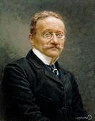 Salvatore Corvaja (1872-1962), Portrait of Arrigo Boito (Padua, 1842 - Milan, 1918), Italian poet, composer and librettist.  Milan, Museo Teatrale (Sc...