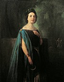 Italy - 19th century. Portrait of Elena Rosina Penco (Naples, 1823 - Bagni della Porretta, 1894), Italian soprano.  Milan, Museo Teatrale (Scala)