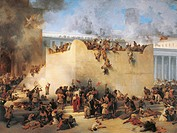Francesco Hayez (1791-1882), The Destruction of the Temple of Jerusalem.  Private Collection