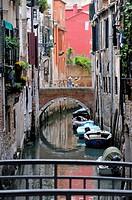 Canal and bridges, Venice, Veneto, Italy
