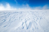 Snow drifts caused by wind, Southern Saskatchewan, Canada
