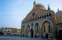 Impressive exterior of the Basilica of St. Anthony, Padua, Italy.