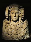 Spain, Elche, The Lady of Elche Elche Lady, stone bust
