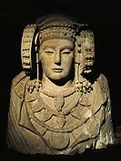 Iberian art V-IV century BC Dama de Elche  Madrid, Museo Arqueológico Nacional