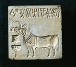 Indus Art - 2.500 b.C. - Stone (steatite) seal of the Indus Valley  Nuova Delhi, Museo Nazionale Dell'India