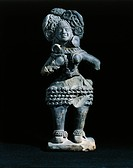 Indian Art - Maurya period - 2nd century b.C. - Terracotta statue from Mathura  Mathura, Archaeological Museum