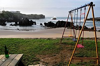 Swings beside Toró, Llanes, Asturias, Spain