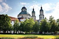 Germany, Bavaria, Swabia, Allgaeu, Kempten, View of St. Lorenz basilica
