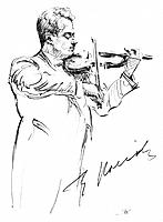 FRITZ KREISLER (1875-1962).American (Austrian-born) violinist and composer. Pencil drawing, c1935, by Hilda Wiener.